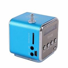 Portable Micro USB Mini Stereo Super Bass Speaker Music MP3 MP4 FM Radio TDV26 Inserted U Disk Card with Display