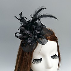cheap Party Headpieces-Net Fascinators Hats Headwear Birdcage Veils with Floral 1pc Wedding Special Occasion Headpiece