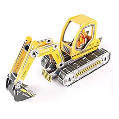 baratos -Quebra-Cabeças 3D Quebra-Cabeça Brinquedos de Montar Maquina de Escavar 3D Faça Você Mesmo Papel de alta qualidade Clássico Escavadeiras