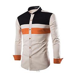 Herrn Einfarbig Hemd Schlank Baumwolle