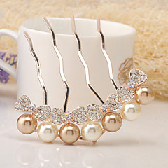 cheap Party Headpieces-Rhinestone Alloy Hair Pin Headpiece Classical Feminine Style