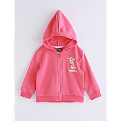 billige Hættetrøjer og sweatshirts til babyer-Baby Pige Helfarve Kort Bomuld Hættetrøje og sweatshirt