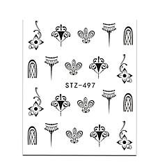 20 Sanat Sticker Nail Su Transfer Etiketi Kız Çocuk ve Genç Kız DIY Gereçleri Makyaj Kozmetik Sanat Tasarım Nail
