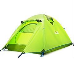billige Telt og ly-BSwolf 2 personer Telt Utendørs Vanntett, Regn-sikker, Støvtett Dobbelt Lagdelt camping Tent 2000-3000 mm til Camping & Fjellvandring Terylene, Aluminium