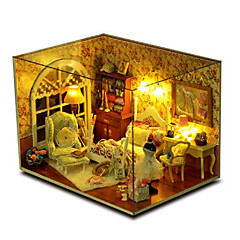 cheap -CUTE ROOM Wood Model Model Building Kit Toys DIY House Plastics Wood Pieces Unisex Birthday Gift