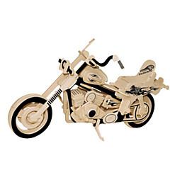 baratos -Quebra-Cabeças 3D Quebra-Cabeças de Metal Brinquedos de Montar Moto Faça Você Mesmo Madeira Natural Clássico Crianças Adulto Unisexo Brinquedos Dom