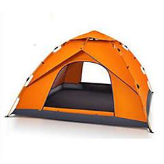 billige Telt og ly-3-4 personer Camping Pute Strandtelt camping Tent Automatisk Telt Hold Varm Støvtett til Camping & Fjellvandring Andre Material CM