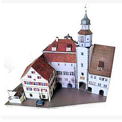 baratos -Quebra-Cabeças 3D Maquetes de Papel Brinquedos de Montar Construções Famosas Faça Você Mesmo Cartão de Papel Duro Clássico Unisexo Brinquedos Dom
