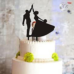 billige Kakedekorasjoner-Kakepynt Monogram Plast Bryllup Spesiell Leilighet med 1 PVC Veske