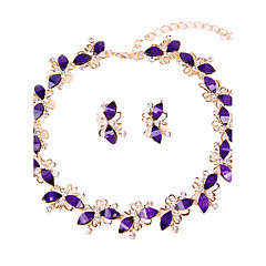 cheap -Women's Jewelry Set Necklace/Bracelet Bridal Jewelry Sets Rhinestone Classic Fashion Euramerican Simple Style Wedding Party Special