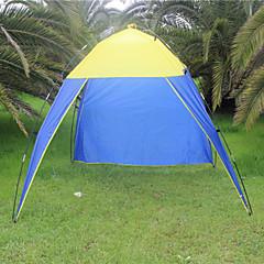 billige Telt og ly-3-4 personer Lytelt Telt Enkelt camping Tent Utendørs Brette Telt Camping & Fjellvandring Ultraviolet Motstandsdyktig Regn-sikker