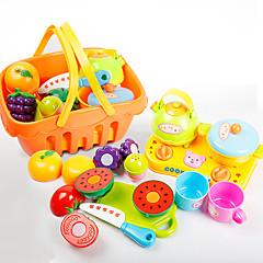 Hrajeme si na... Toy kuchyňských sestav Hračka nádobí a čajové soupravy Toy Foods Hračky Jídlo Friut Simulace Dětské Pieces