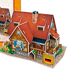 DIY KIT 3D Puzzles Jigsaw Puzzle Paper Model Toys Famous buildings House Architecture 3D DIY Unisex Pieces