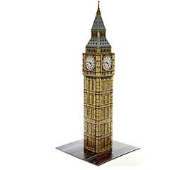 tanie Gry i puzzle-Zabawki 3D Puzzle Okrągły Znane budynki Architektura 3D Natural Wood Dla obu płci Prezent
