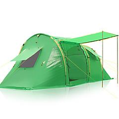 billige Telt og ly-3-4 personer Telt Dobbelt camping Tent Familietelt Regn-sikker til Camping & Fjellvandring Andre Material CM
