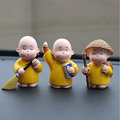 Diy automotive koristeet piirretty anime pikku munkki nuket auto riipus&Koriste-hartsi