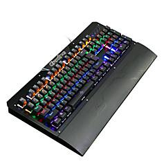 Ruyiniao Metall Gaming Hintergrundbeleuchtung mechanische Tastatur 104 Tasten blau Schalter USB-Kabel