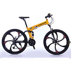billige Sykler-Foldesykkel Fjellsykkel Sykling 27 Trinn 26 tommer (ca. 66cm)/700CC Shimano Oljeskivebremse Dempegaffel Foldbar Vanlig Aluminium