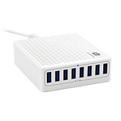 USB-laturi 8 Portit Työpöydän latausasema Smart-tunnistuksella Latausadapteri