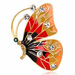 女性用 ブローチ ラインストーン ベーシック ファッション ビンテージ あり 高級ジュエリー シンプルなスタイル クラシック Elegant クリスタル イミテーションダイヤモンド 合金 幾何学形 アニマル ジュエリー バタフライ ジュエリー 用途 結婚式 パーティー
