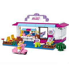 Tue so als ob du spielst Bausteine Minifiguren aus Blockbausteinen Spielzeuge Burg Haus Stücke Mädchen Geburtstag Geschenk