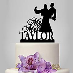 billige Kakedekorasjoner-Kakepynt Klassisk Par Artig & Underspillet Bryllup Bryllup Polyester Veske