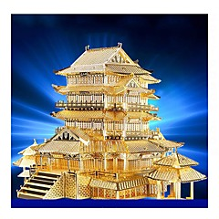 cheap -3D Puzzles Metal Puzzles Model Building Kit Famous buildings Architecture 3D DIY Metal Birthday Boys' Unisex Gift
