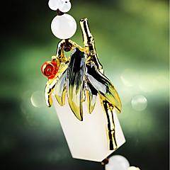 Pingente automotivo de bambu de pingente de aço inoxidável&Ornamentos de cristal jade