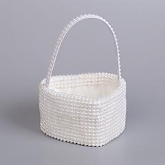 "cheap Wedding Ceremony-Beautiful Wedding Flower Basket Rattan 9"" (23 cm) Pearl 1Wedding Ceremony"
