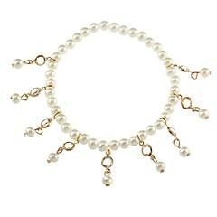 Dame Ankel/Armbånd Pink perle Blomstret Rund form Smykker Til Afslappet Strand Bikini Gade