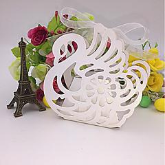 baratos -50pcs swan laser cortou favores e presentes de casamento de caixa de doces