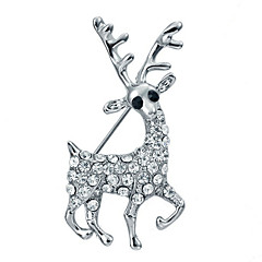 Dámské Dívčí Brože Kubický zirkon Zvířecí Pozlacené Šperky Pro Svatební Párty Obřad Vánoce