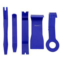 Ziqiao 5 buc culoare albastru diy auto masina auto radio radio usa clip panou ornamente dash eliminarea sunetului instrumente de taiat kit