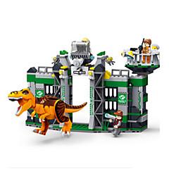 אבני בניין צעצועים טירנוזאורוס דינוזאור עשה זאת בעצמך ילדים נערים חתיכות