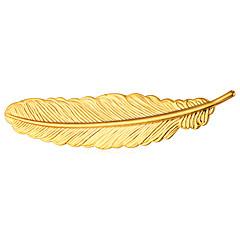 Herre Dame Nåler Smykker Mote Personalisert Gullbelagt Legering Fjær Smykker Til