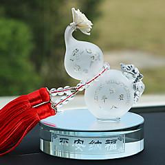 DIY bilvare pendants trygt og trygt pølse parfyme sete bil parfyme gourd interiør forsyninger bil anheng&Ornamenter jade / krystall