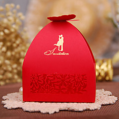 cheap Favor Holders-Creative Cubic Card Paper Pearl Paper Favor Holder with Pattern Favor Boxes Gift Boxes - 100