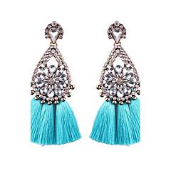 cheap -Women's Tassel Drop Earrings - Flower Bohemian, Boho Light Blue / Light Pink / Royal Blue For Wedding / Party / Graduation