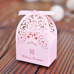 cheap Favor Holders-Creative Cuboid Card Paper Pearl Paper Favor Holder with Pattern Favor Boxes Gift Boxes - 100