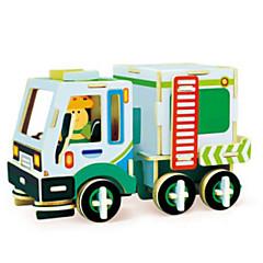billige Puslespill i tre-Lekebiler 3D-puslespill Puslespill Gravemaskin Tre Naturlig Tre Entreprenørmaskiner Barne Unisex Gave