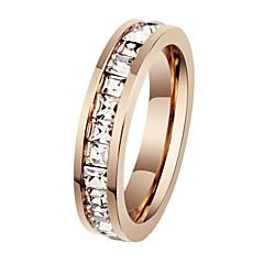 billige Motering-Dame Statement Ring - Titanium Stål Mote 5 / 6 / 7 Til Bryllup / Fest / Daglig / Diamant