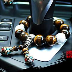 DIY autoteollisuus korkealaatuinen auto riipus pysähtyy helmet luonnollinen tiikeri silmä kivi auton riipus&Koriste jade
