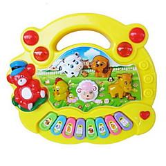 Brinquedos Musicais Instrumentos de brinquedo Brinquedos Quadrada Piano Instrumentos Musicais Animais Plásticos Plástico Duro Peças