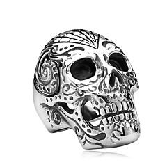 Heren Sieraden Modieus Rock Roestvast staal Titanium Staal Doodshoofdvorm Sieraden Sieraden Voor Halloween Dagelijks Causaal
