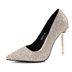 cheap Wedding Shoes-Women's Shoes Paillette Spring Fall Basic Pump Heels Stiletto Heel Pointed Toe Sequin For Wedding Party & Evening Light Pink Red Silver