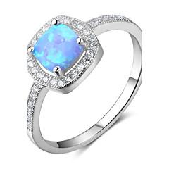 levne -Dámské Široké prsteny Syntetický opál Klasický Stříbro Geometric Shape Šperky Pro Svatební