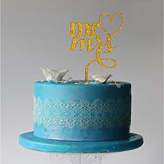 kake topper monogram plast bryllupsfesten med pvc bag bryllupet mottak