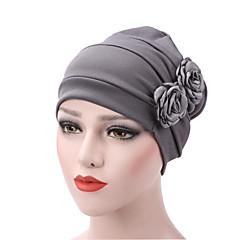 Damen Vintage Schlapphut aus Baumwolle - solide, plissiert