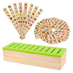 도미노 나무 장난감 지식 학습 형태 분류 상자 유치원 교재 에이즈 jj7701-0525