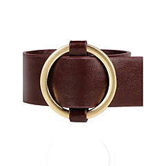 Women's Leather Bracelet Fashion Adjustable Leather Alloy Circle Jewelry For Daily Going out